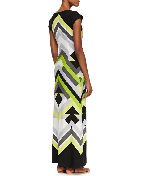 Printed Luxury-Jersey Maxi Dress