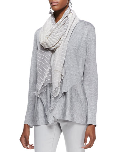 Eileen Fisher Handloomed Color Shift Scarf, Pewter