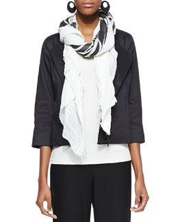 Eileen Fisher Printed Big Square Scarf