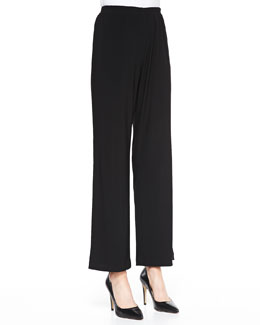 Caroline Rose Straight-Leg Knit Pants