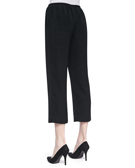 Shantung Easy Capri Pants, Women's