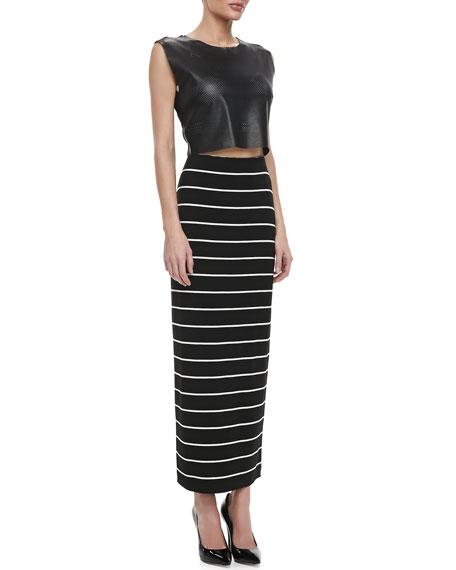 Masakela Fitted Striped Skirt