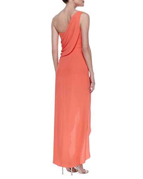 Kailo Draped One-Shoulder Gown