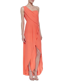 BCBGMAXAZRIA Kailo Draped One-Shoulder Gown