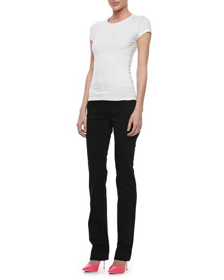 Straight-Leg Jeans, Black