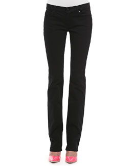 7 For All Mankind Straight-Leg Jeans, Black