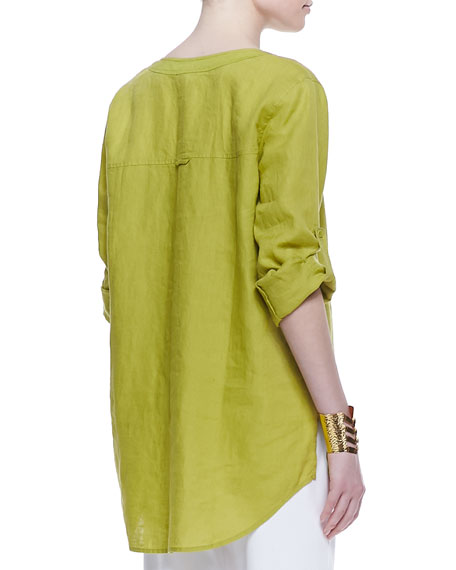 Handkerchief Linen Tunic, Lime