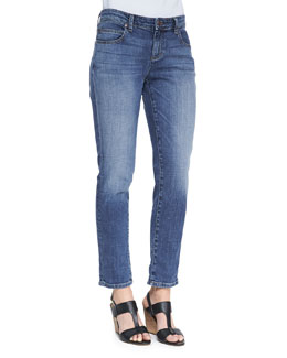 Eileen Fisher Stretch Boyfriend Jeans, Aged Indigo, Women's