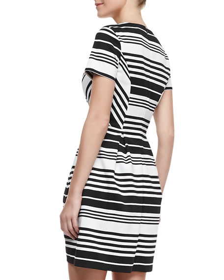 Porter Road Ponte Striped Dress