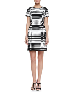 Shoshanna Porter Road Ponte Striped Dress