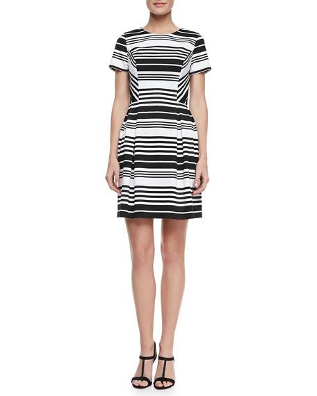 Porter Road Ponte Striped Dress