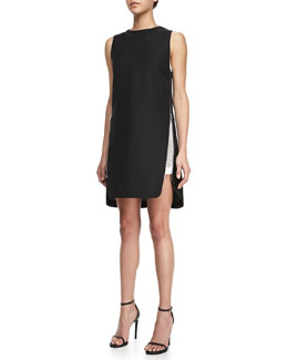 Robert Rodriguez Side-Zip Sleeveless Dress