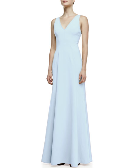 Vertebrae B Woven-Panel Sleeveless Gown