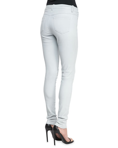 Stretch Lambskin Leather Jeans