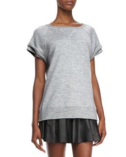 Robert Rodriguez Merino Wool Double-Sleeve Sweatshirt