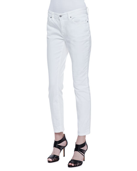 Skinny Ankle Jeans, White