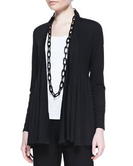Eileen Fisher Lightweight Jersey Flutter Cardigan, Women's