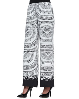 12th Street by Cynthia Vincent Solar-Print Drawstring Pants