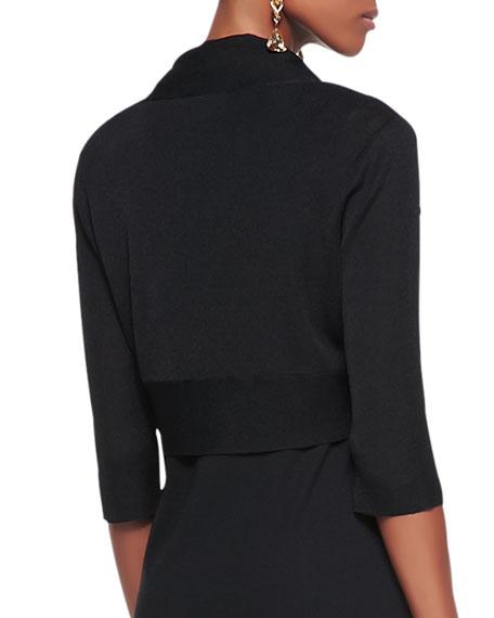 Half-Sleeve Shrug, Black, Petite