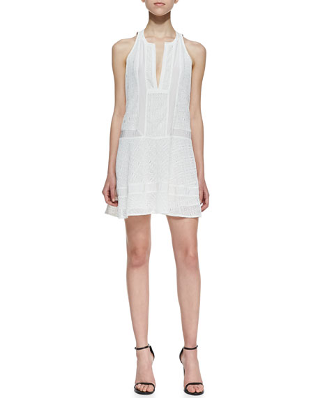 Sleeveless Inset Lace Dress