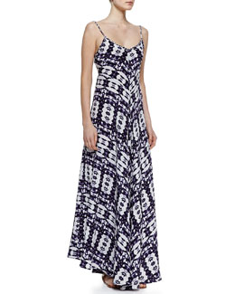 12th Street by Cynthia Vincent Silk Braided-Strap Maxi Dress