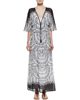 12th Street by Cynthia Vincent Dolman Half-Sleeve Maxi Dress