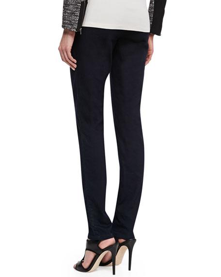 Organic Soft Stretch Skinny Jeans, Black Indigo