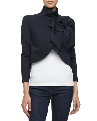 Sale alerts for Alice + Olivia Addison Bow-Collar Jacket - Covvet