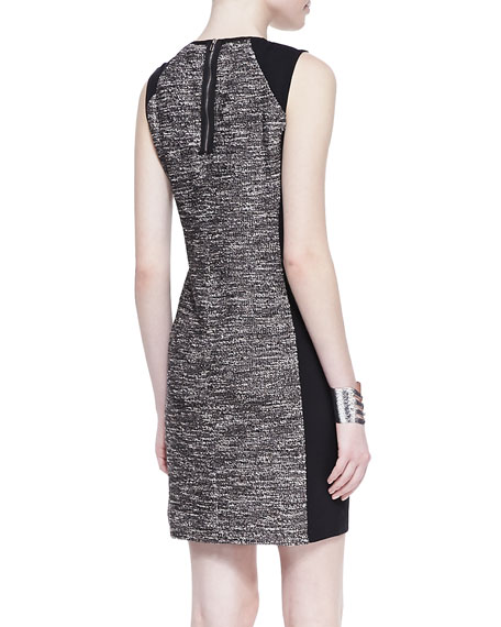 Tweedy Knit Sheath Dress