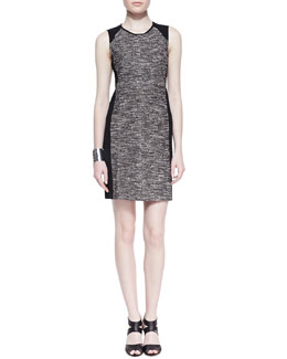 Eileen Fisher Tweedy Knit Sheath Dress