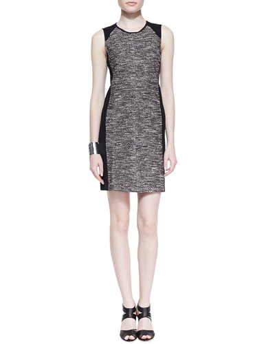 Eileen Fisher Tweedy Knit Sheath Dress, Petite
