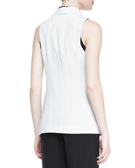Silk Shawl-Collar Vest, Women's