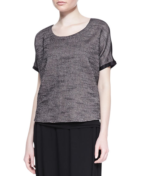 Melange Mesh Box Top