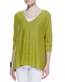 Eileen Fisher Organic Linen Cotton Top