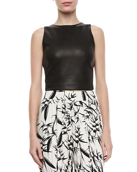 Lorita Leather Crop Top