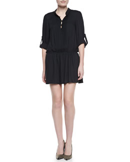 Alice + Olivia Yvonne Pintuck Crepe Dress