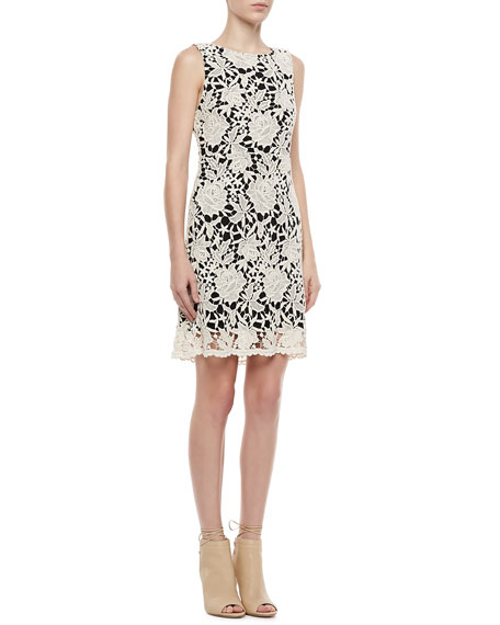 Jolie A-Line Lace-Overlay Dress