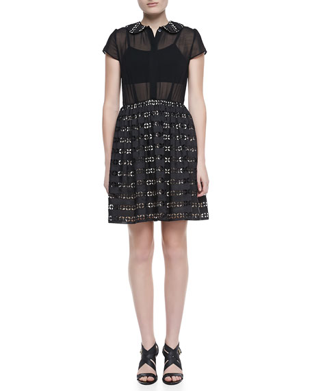 Anita Peter-Pan-Collar Eyelet Dress
