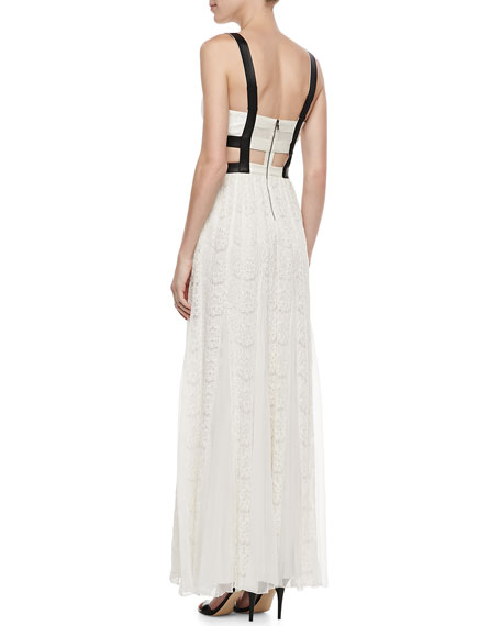 Sveva Lace-Bustier Cutout Maxi Dress