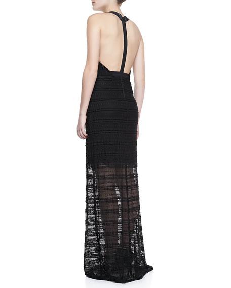 Lavinia Leather T-Back Maxi Dress