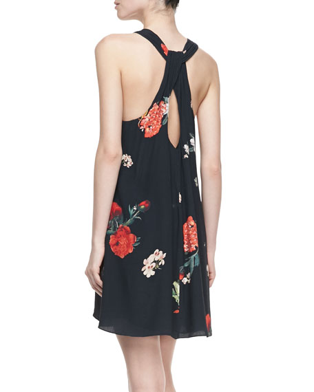 Liz Castaway Floral-Print Tunic Dress