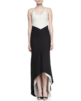 Alice + Olivia Bredes Colorblock High-Low Maxi Dress