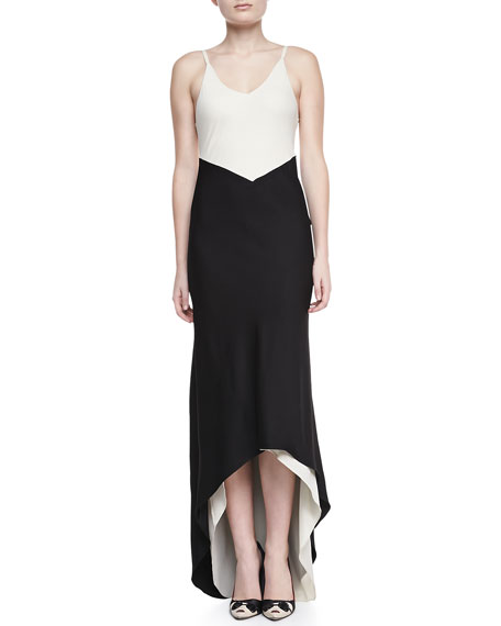 Bredes Colorblock High-Low Maxi Dress