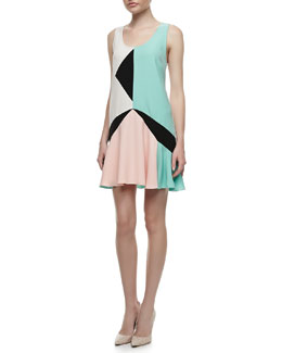MARC by Marc Jacobs Cady Collage Flared Dress