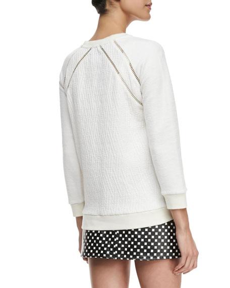 Demi Jacquard Crewneck Sweatshirt