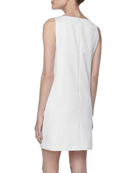 Shift Dress with Metal Accents