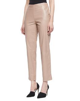Paule Ka Cropped Leather Pants