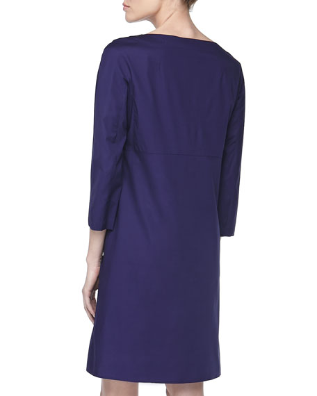 Stretch Ottoman Lace-Up Dress