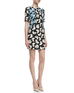 MARC by Marc Jacobs Printed Georgette Shift Dress
