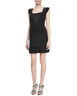 MARC by Marc Jacobs Frances Georgette Ruffle Dress